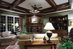 Early American House Plan Family Room Photo 01 - 065S-0032 | House Plans and More