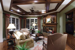 Early American House Plan Family Room Photo 02 - 065S-0032 | House Plans and More