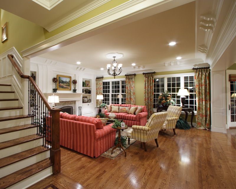 Traditional House Plan Great Room Photo 02 065S-0032