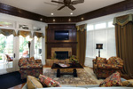Country French Home Plan Family Room Photo 01 - 065S-0033 | House Plans and More