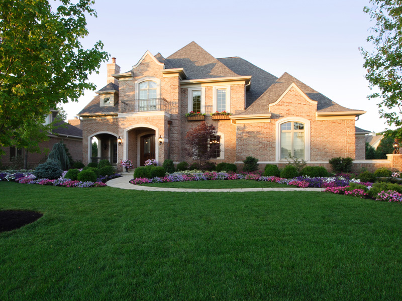 Luxury House Plan Front of Home 065S-0033