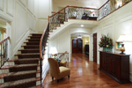 Country French Home Plan Stairs Photo - 065S-0033 | House Plans and More
