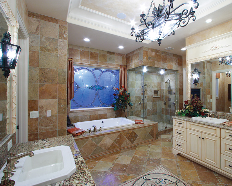 Luxury House Plan Master Bathroom Photo 01 065S-0034