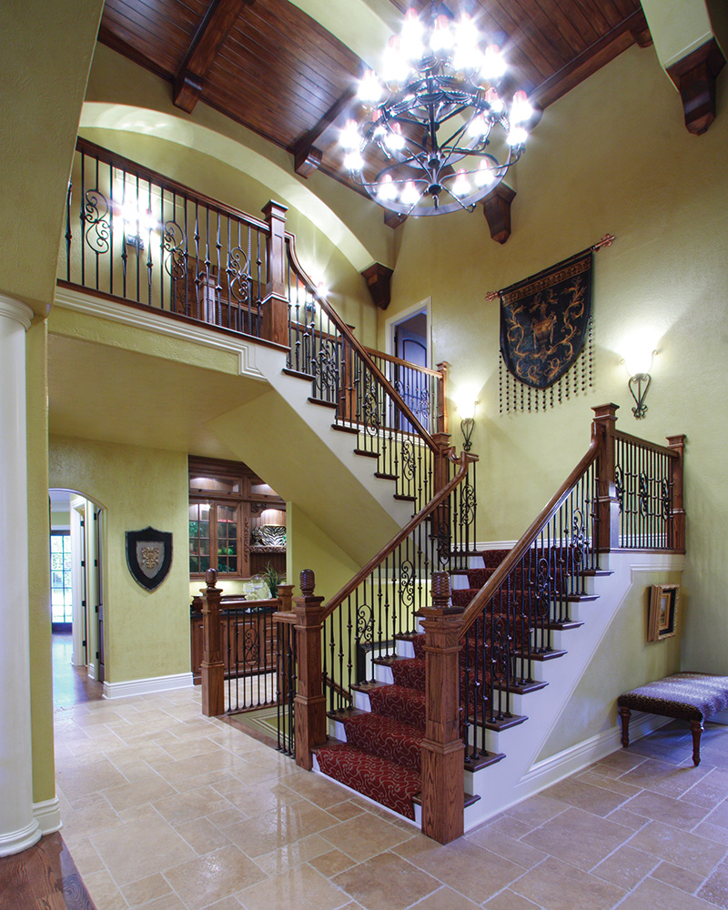 European House Plan Stairs Photo - 065S-0034 | House Plans and More