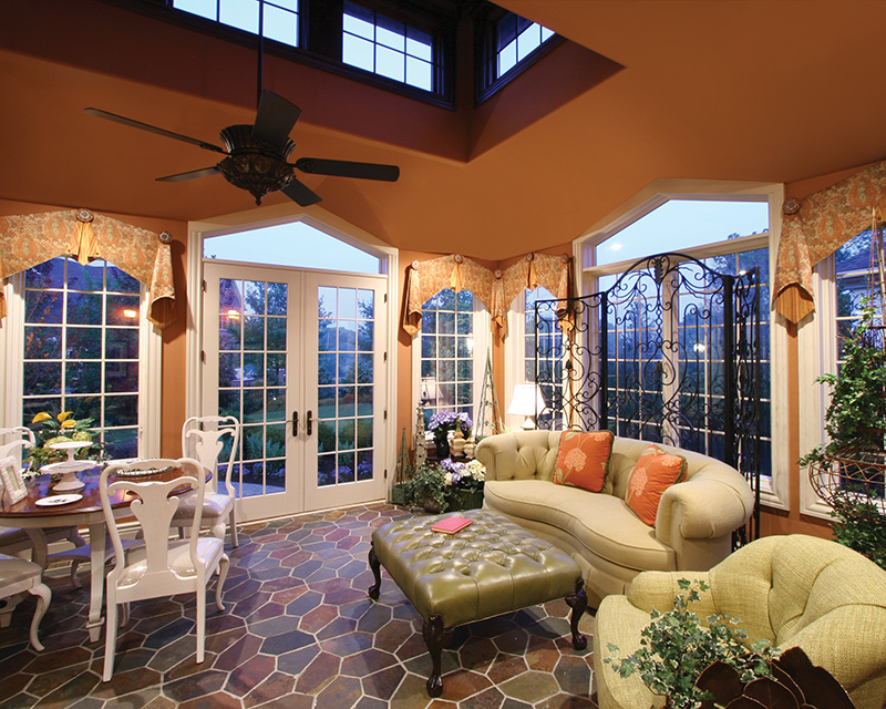 European House Plan Sunroom Photo 065S-0034