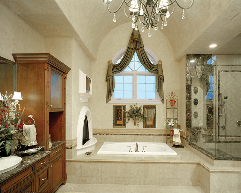 European House Plan Master Bathroom Photo 01 - 065S-0035 | House Plans and More