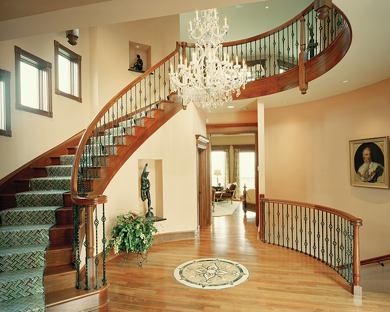 European House Plan Stairs Photo 065S-0036