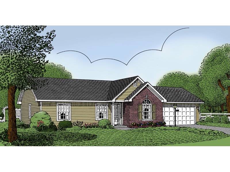 Country House Plan Front of Home - 067D-0001 | House Plans and More