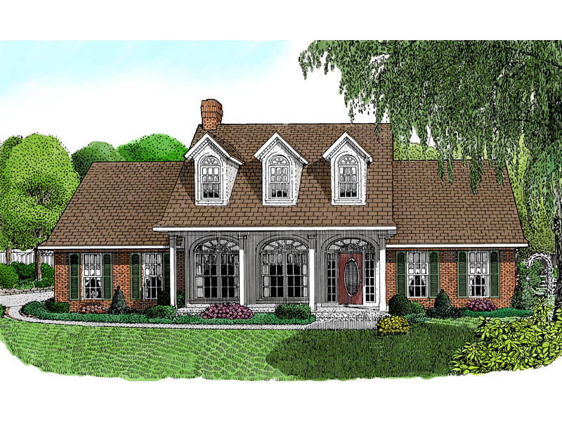 Home With Stunning Triple Dormers And Arches