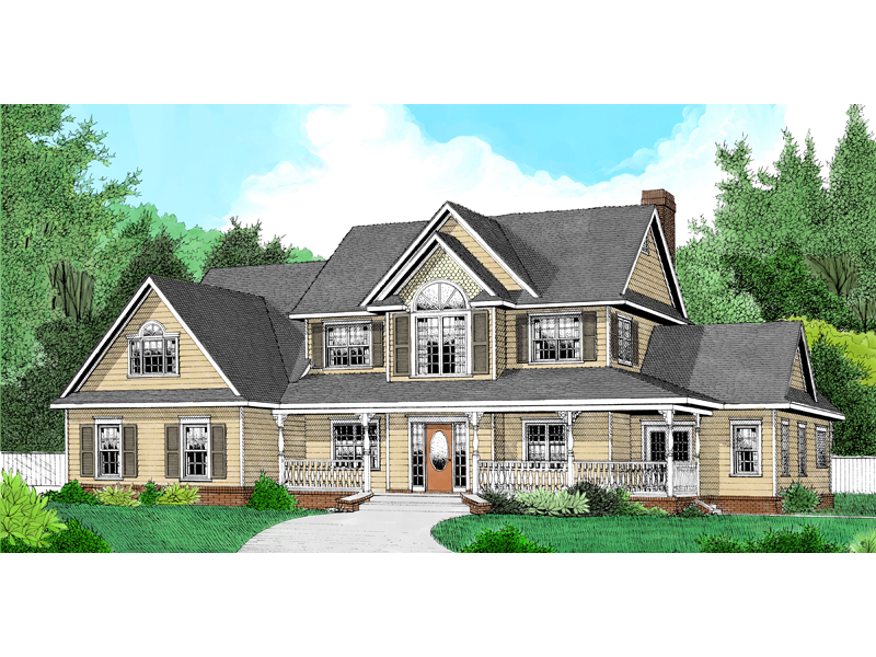 Traditional House Plan Front of Home - 067D-0027 | House Plans and More