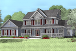 Two-Story Country Farmhouse Has Great Curb Appeal