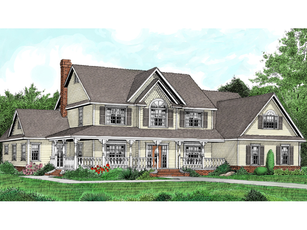 Fabian hill luxury farmhouse plan 067d 0041 house plans for Farm house plans with photos