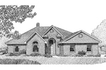 Brick Ranch House With Arched Front Entry