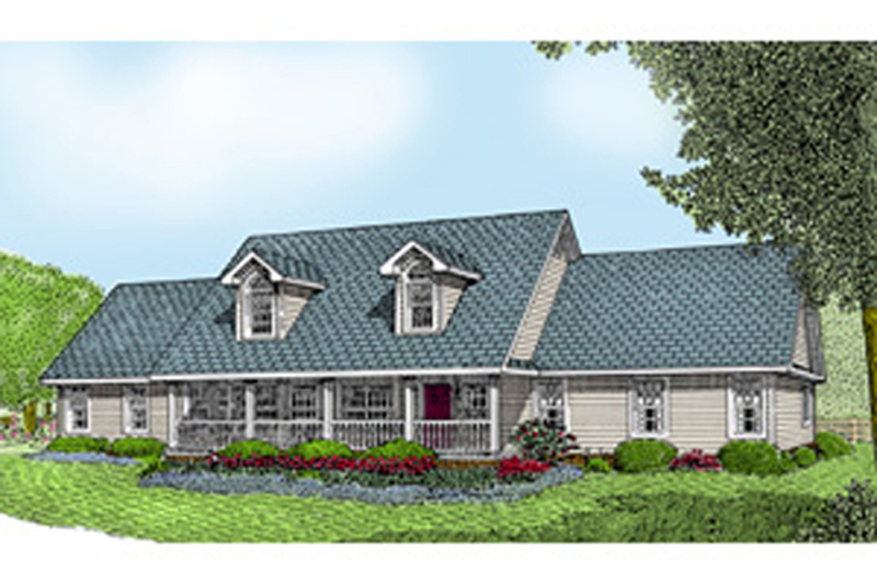 Traditional House Plan Front of Home - 067D-0050 | House Plans and More