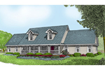 Farmhouse Plan Front of Home - 067D-0050 | House Plans and More