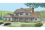 Large Covered Front Porch Is The Focal Point