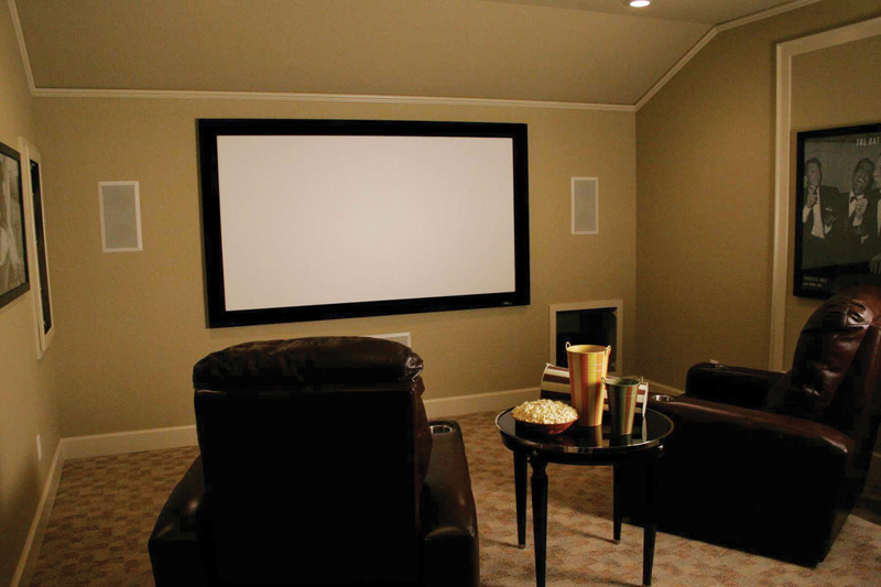 Contemporary House Plan Theater Room Photo 01 - 067S-0001 | House Plans and More