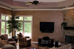 Luxury House Plan Living Room Photo 01 - 067S-0005 | House Plans and More