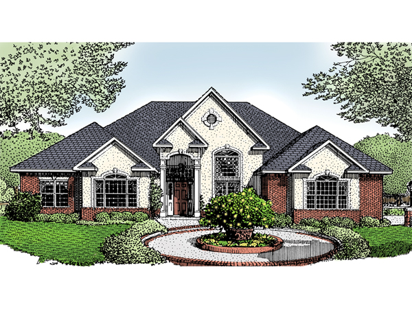Rosebriar european home plan 068d 0001 house plans and more for European estate house plans