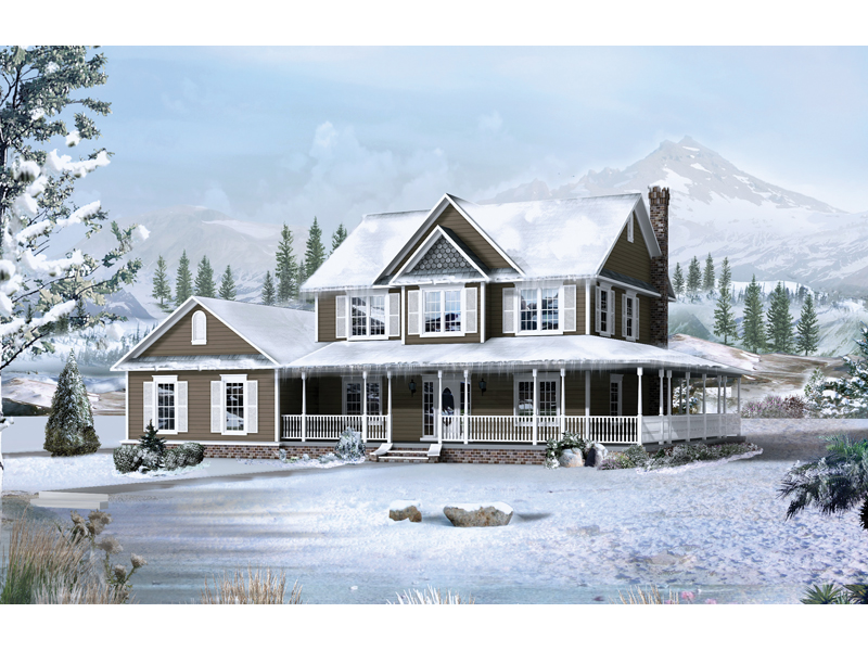 Country House Plan Front of Home 068D-0002