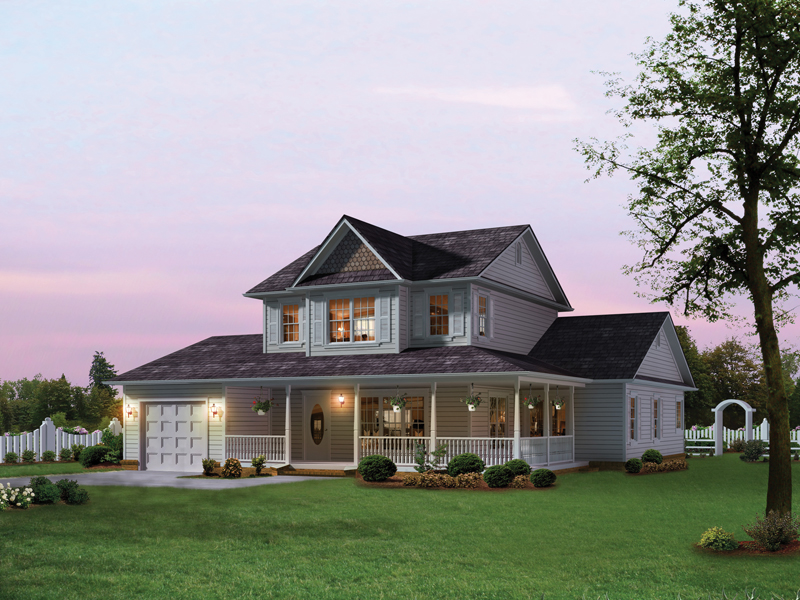 Home With Comfortable Wrap-Around Porch