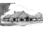 All Brick Ranch Home With Covered Arched Front Entry