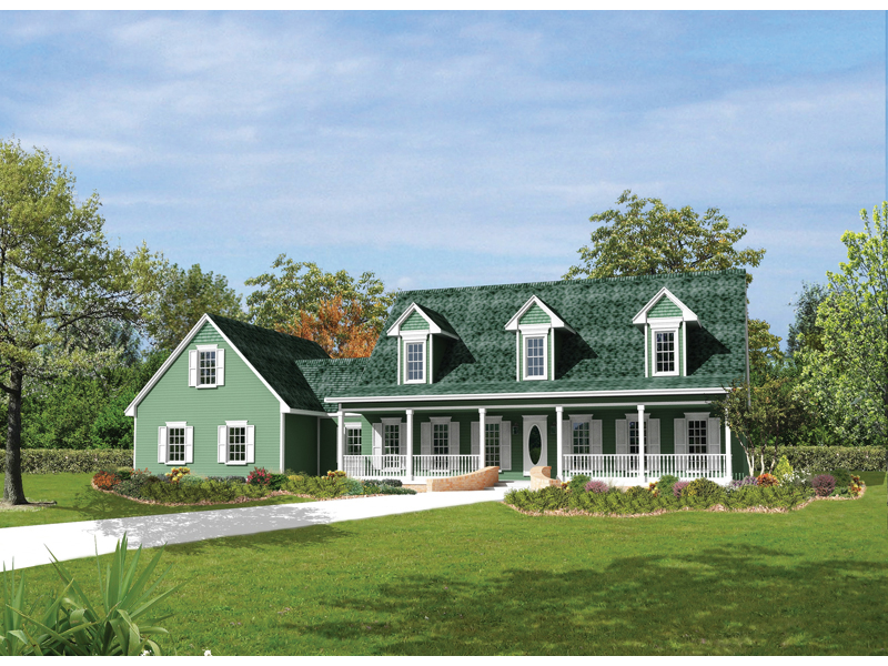 Berryridge cape cod style home plan 068d 0012 house for House plans with dormers and front porch