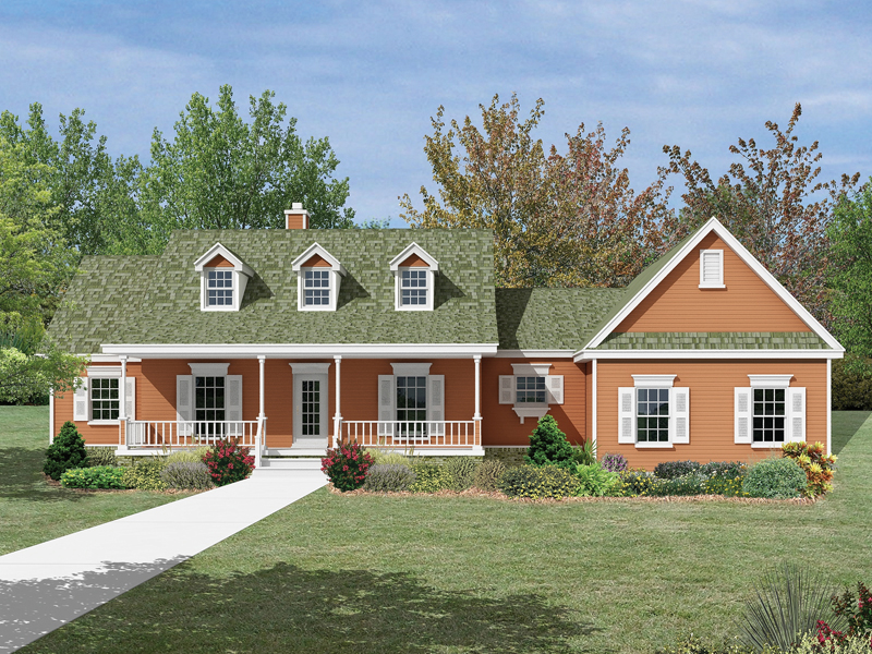 Country Style Home With New England Style Influence