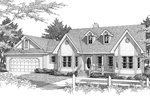 Symmetrical Country Ranch With Double Bay Windows
