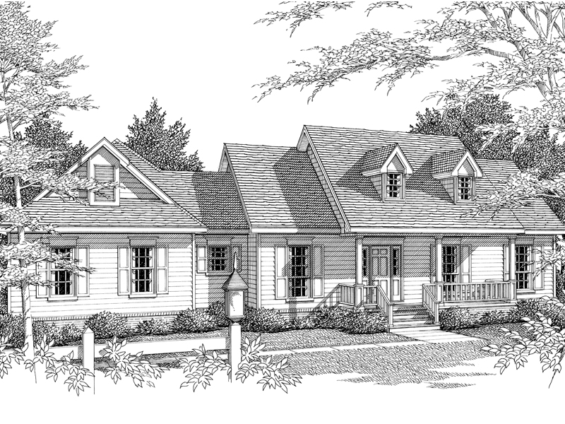 Babergh Country Ranch Home Plan 069D 0054 House Plans