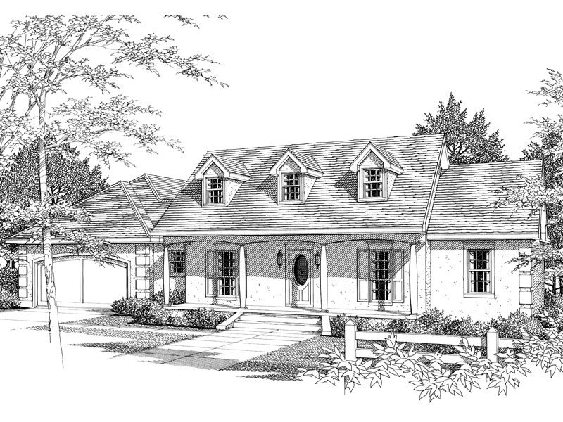 Cape Cod Country Ranch With Distinctive Columns