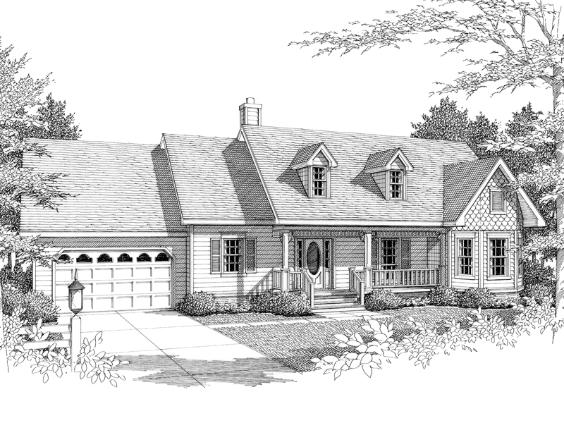 Ranch House Has Country Style With Twin Dormers