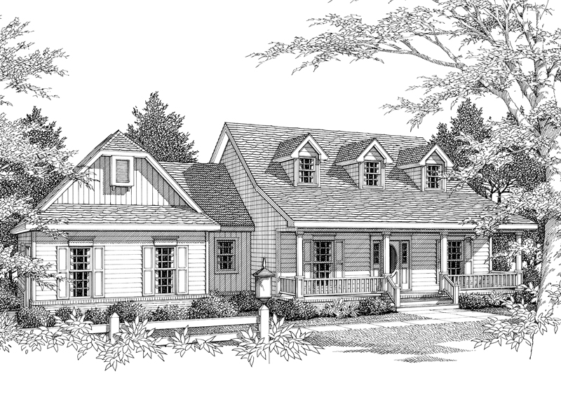 Cape Cod Style Home Has Country Character