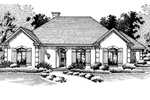Symmetrically Pleasing Sunbelt Ranch With Arched Entryway
