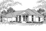 Elegant Sunbelt Home With Dramatic Tall Arched Windows