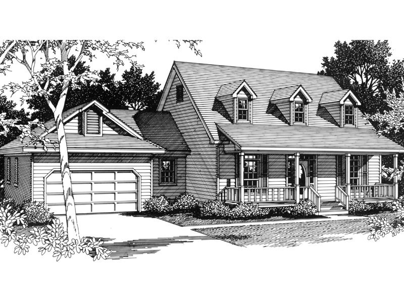 Country House Plan Front of Home - 069D-0067 | House Plans and More