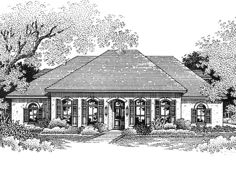Middlebush southern home plan 069d 0070 house plans and more Southern charm house plans