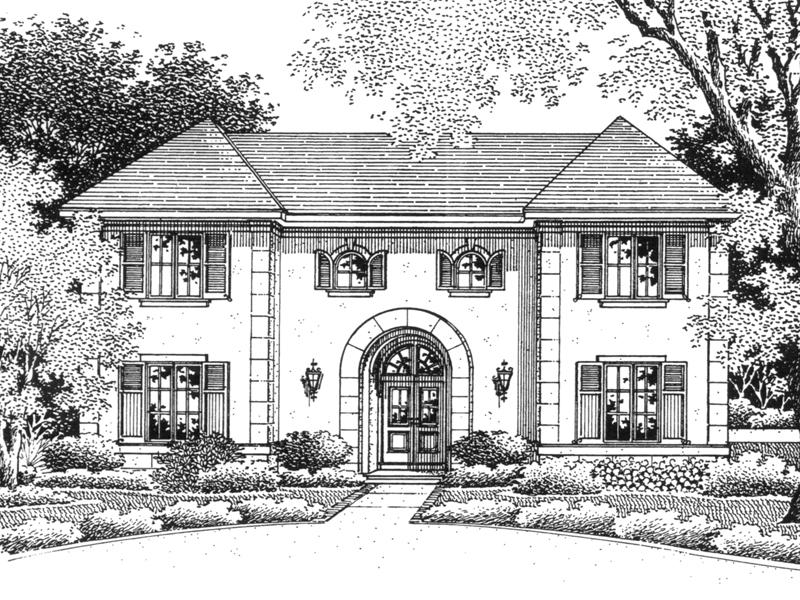 Louisbourg european home plan 069d 0075 house plans and more for European manor house plans