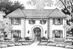Symmetrical Stucco European Style Manor House