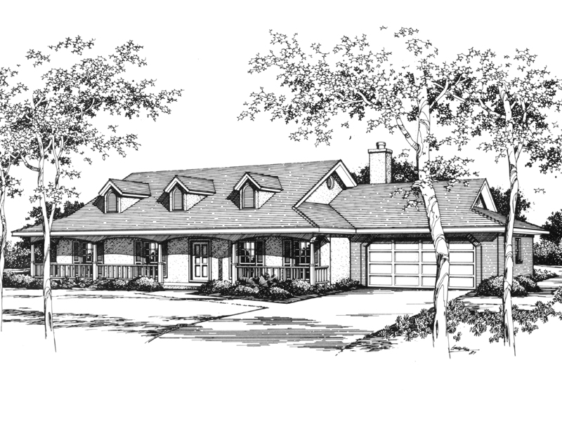 Adana Country Ranch Home Plan 069d 0080 House Plans And More