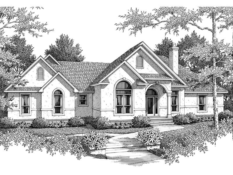 Florida Style Ranch House Has Sleek Stucco Exterior
