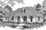 Country House Design Has Inviting Covered Porch With Arches