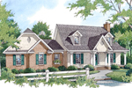 Hip Roof Design Adds Interest To This Country House
