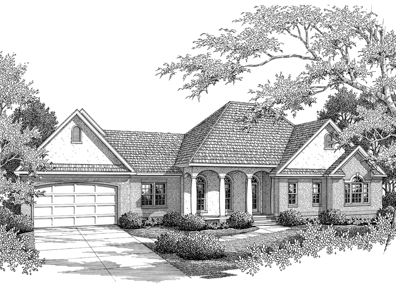 Bellucci Traditional Ranch Home Plan 069d 0095 House