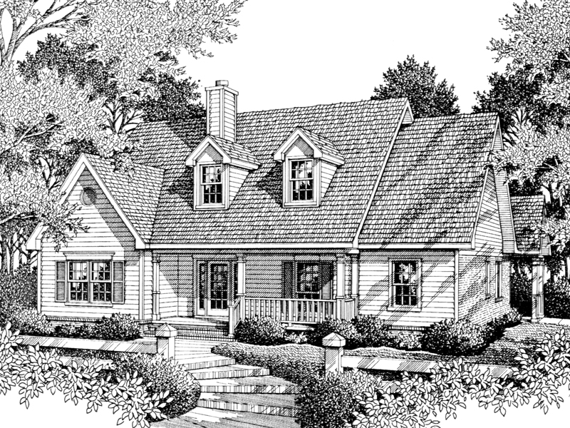 Country House Plan Front of Home - 069D-0096 | House Plans and More