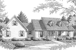 Country House Plan Front of Home - 069D-0103 | House Plans and More