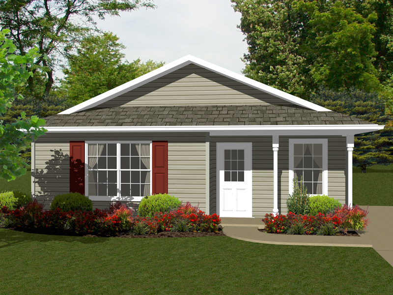 Cabin and Cottage Plan Front of Home - 069D-0105 | House Plans and More