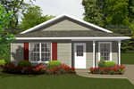 Ranch House Plan Front of Home - 069D-0105 | House Plans and More