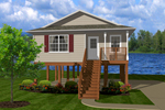 Beach & Coastal House Plan Front of Home - 069D-0106 | House Plans and More