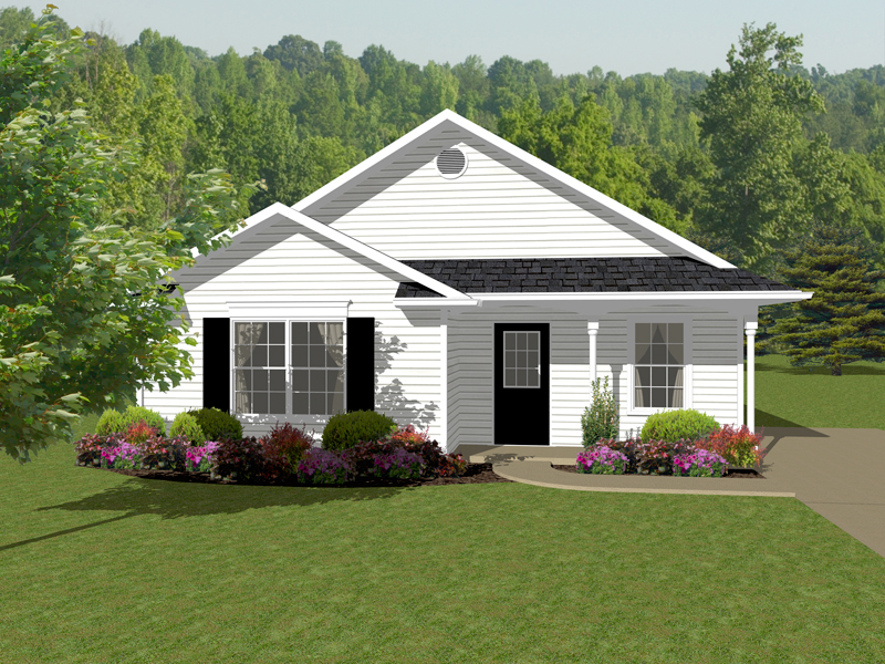 Ranch House Plan Front of Home - 069D-0107 | House Plans and More
